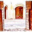 Fognano: door and arch by Giuseppe Cocco