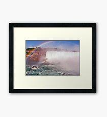 Niagara Rainbow Framed Print