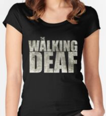 The Walking Deaf Women's Fitted Scoop T-Shirt