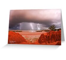 Lightning over the Pindan Greeting Card