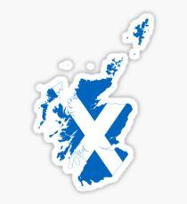 Flag Map of Scotland  Sticker