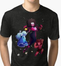 Garnet - Steven Universe Fanart, Sapphire, Ruby, Fusion Tri-blend T-Shirt