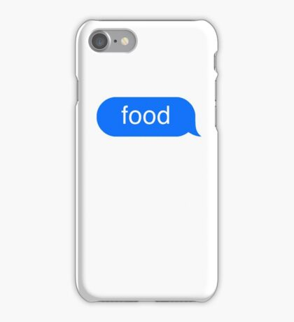 food text iPhone Case/Skin