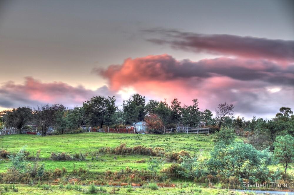 Evening sky,Hill End, by Elisabeth Thorn