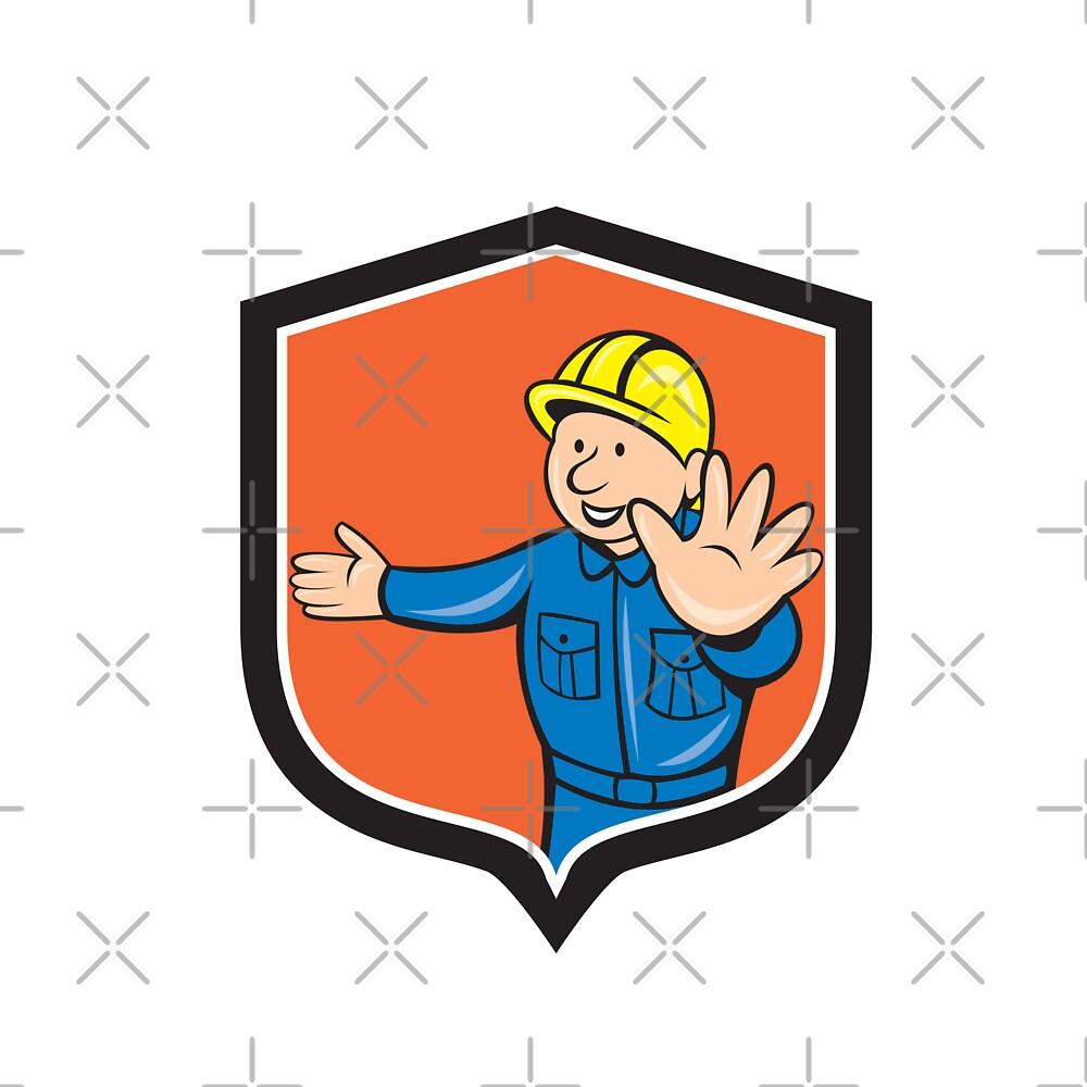 Builder Carpenter Hands Out Cartoon by patrimonio