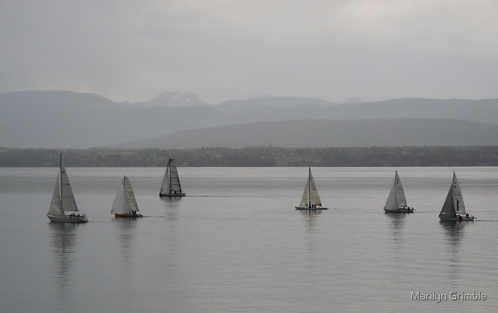 EVENING TIME ON THE LAKE - GENEVA by Marilyn Grimble