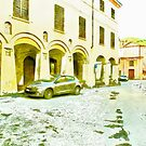 Fognano: foreshortening with street and arcade by Giuseppe Cocco