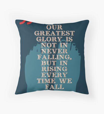 Confucius Inspiratonal Quote Throw Pillow