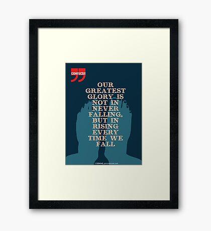 Confucius Inspiratonal Quote Framed Print