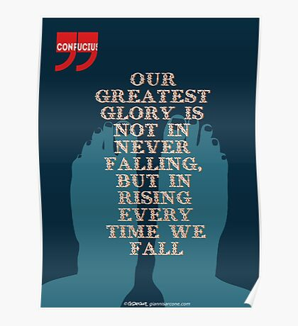 Confucius Inspiratonal Quote Poster