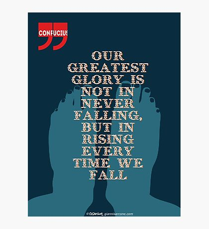 Confucius Inspiratonal Quote Photographic Print