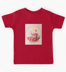 Wednesday Sewing and Mending Bonnet Lady Kids Tee