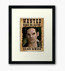 Buffy Xander Wanted Vampire Framed Print