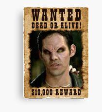 Buffy Xander Wanted Vampire Canvas Print