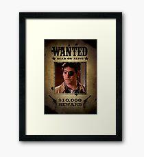 Buffy Xander Wanted 2 Framed Print