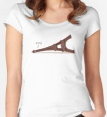 I Fell Women's Fitted Scoop T-Shirt