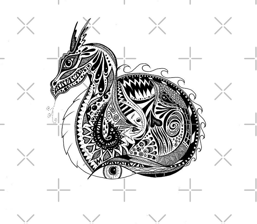 Nesting Dragon by Casey Virata