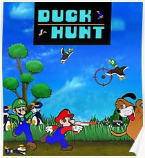Mario and Luigi : Duck Hunt Poster