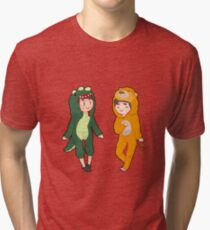 Dan and phil with onesies part 1 Tri-blend T-Shirt