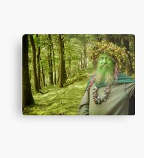 Green Man Of The Woods Metal Print