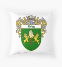 Riley Coat of Arms / Riley Family Crest Throw Pillow
