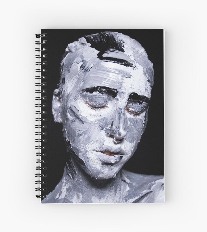 Black and white expressive portrait painting by monisha rockett
