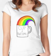 New cup of awesome Women's Fitted Scoop T-Shirt