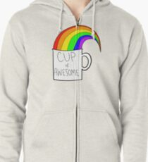 New cup of awesome Zipped Hoodie