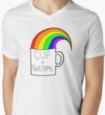 New cup of awesome Men's V-Neck T-Shirt