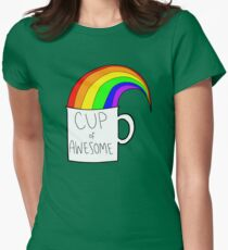 New cup of awesome Womens Fitted T-Shirt