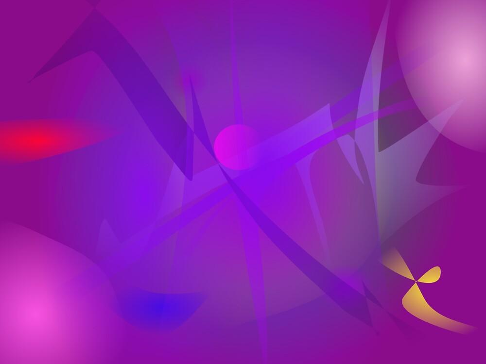 Black Hole Purple Digital Abstract Art by masabo