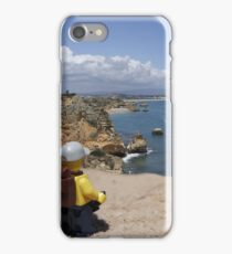 The lego Backpacker enjoying the beach iPhone Case/Skin