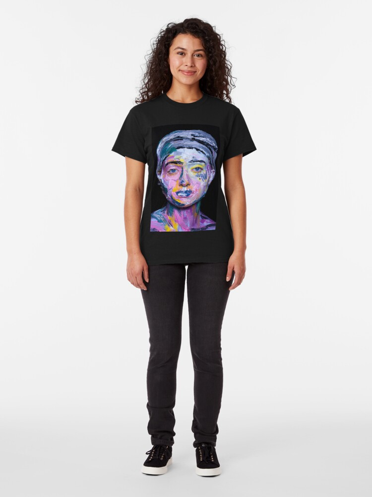 Alternate view of  Colourful expressive portrait painting Classic T-Shirt