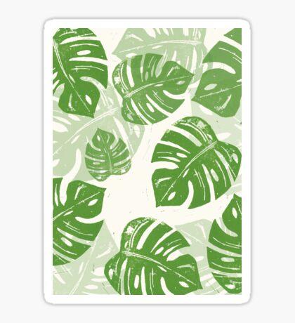 Linocut Leaf Pattern Sticker