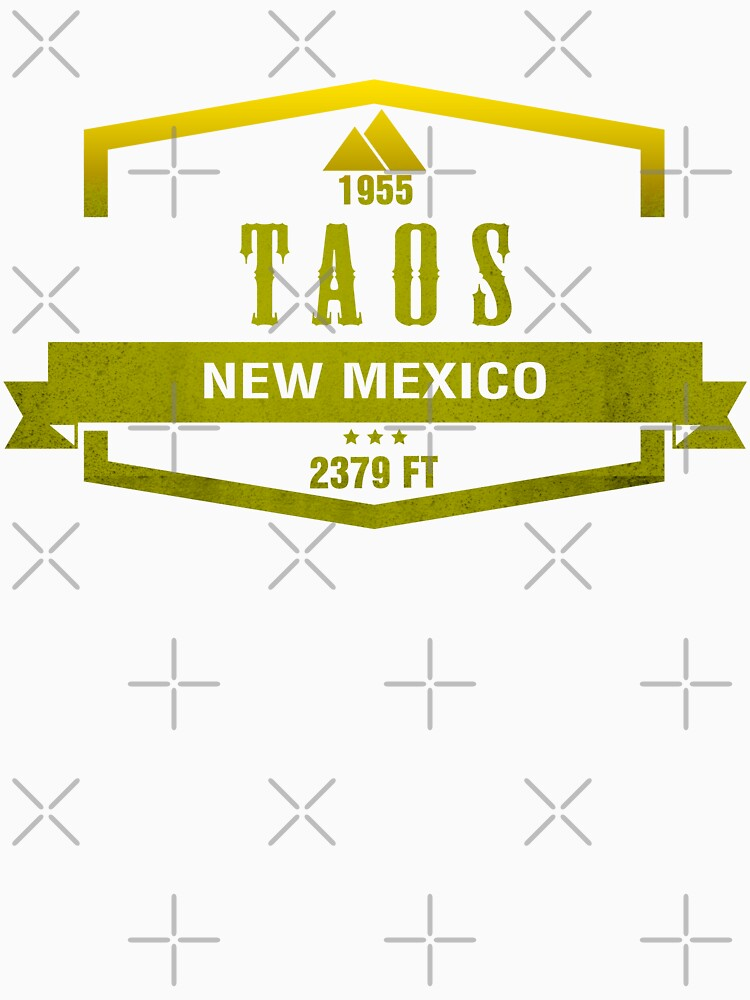 Taos Ski Resort Shirts New Mexico by CarbonClothing