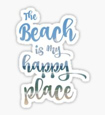 Beach Happy Place Typography Sticker