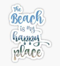 Beach Happy Place Typography Sticker