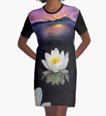 Lotus at Dawn Graphic T-Shirt Dress