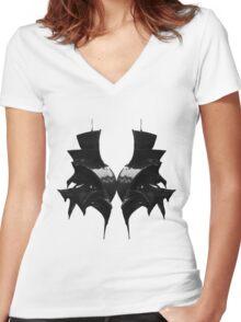 Rorschach 1  Women's Fitted V-Neck T-Shirt