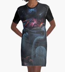 Night Life Graphic T-Shirt Dress