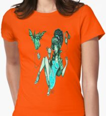 MONSTER ICE CREAMS - Mint choc chip vampire Womens Fitted T-Shirt