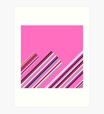 Luxury Artistic Fashion Collection with Retro Vintage Stripes - Luxury Collection Art Print