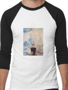 watercolor/ink light bulb Men's Baseball ¾ T-Shirt