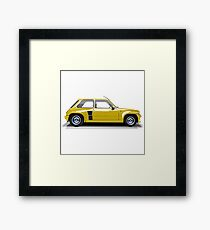 Renault 5 Turbo (yellow) Framed Print