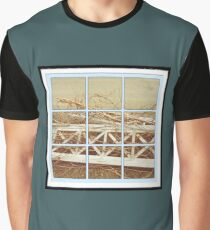 Old Fence Portrait Graphic T-Shirt