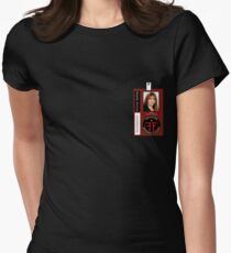 Fringe Parallel Universe Olivia Dunham ID Badge Shirt Womens Fitted T-Shirt