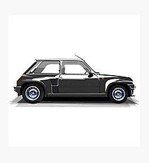 Renault 5 Turbo (black) Photographic Print