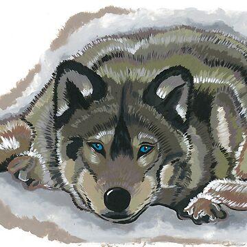 Wolf Gaze by sarahwfox