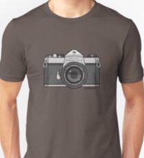 Asahi Pentax 35mm Analog SLR Camera Line Art Graphic Gray Unisex T-Shirt
