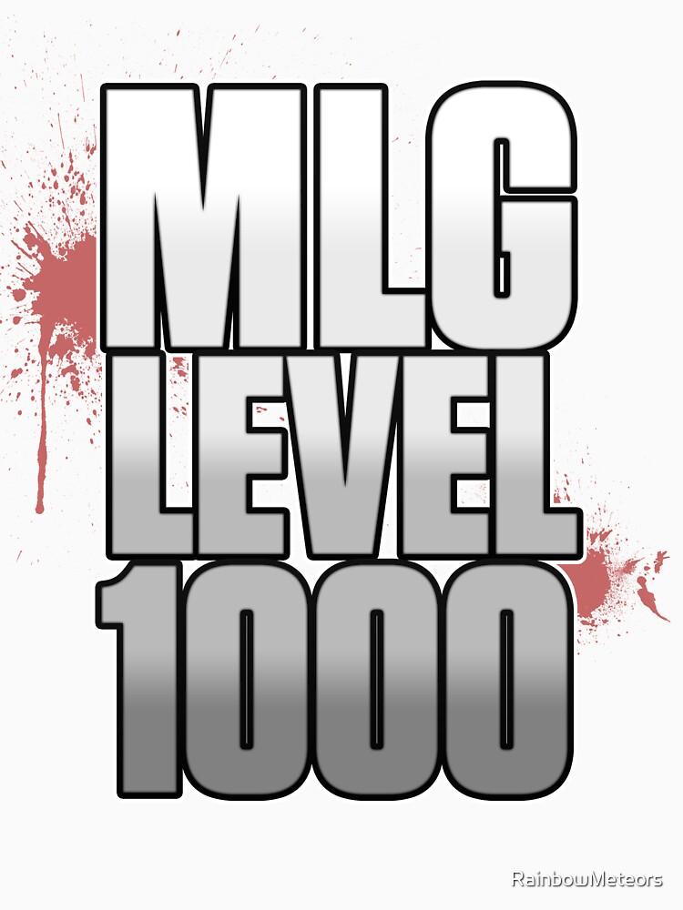 MLG Level 1000 shirt by RainbowMeteors